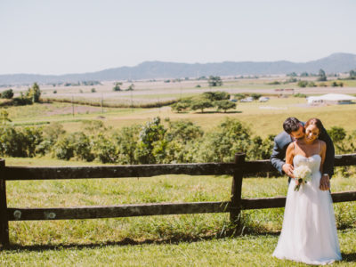 Tracey & Christian, a rustic backyard wedding