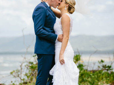 Phoebe & Andrew's first look {Newell Beach Wedding Photography}